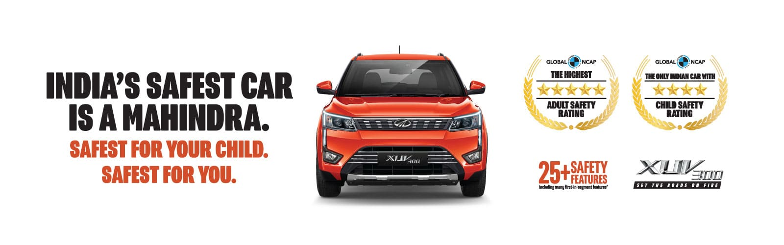 Mahindra XUV300 5 Star rated in India